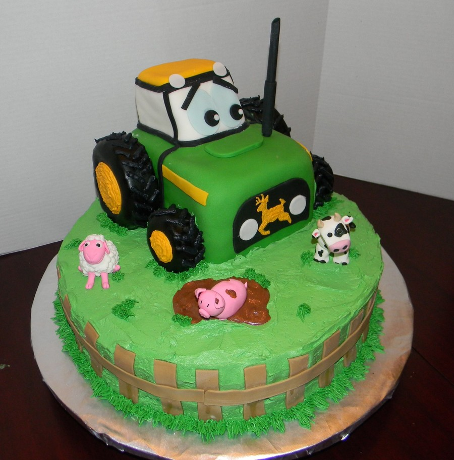 Green Tractor on Cake Central