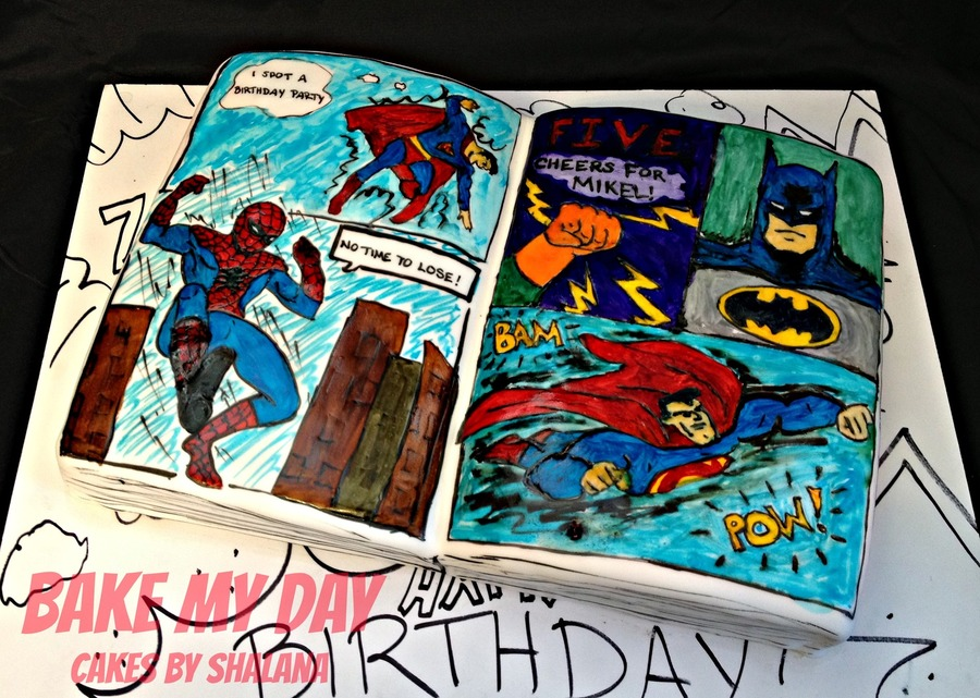 Superhero Comic Book  on Cake Central