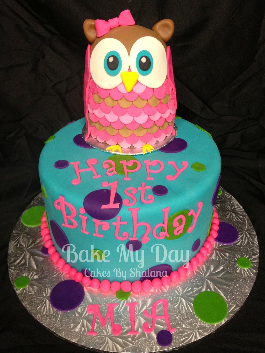 Pink Owl on Cake Central