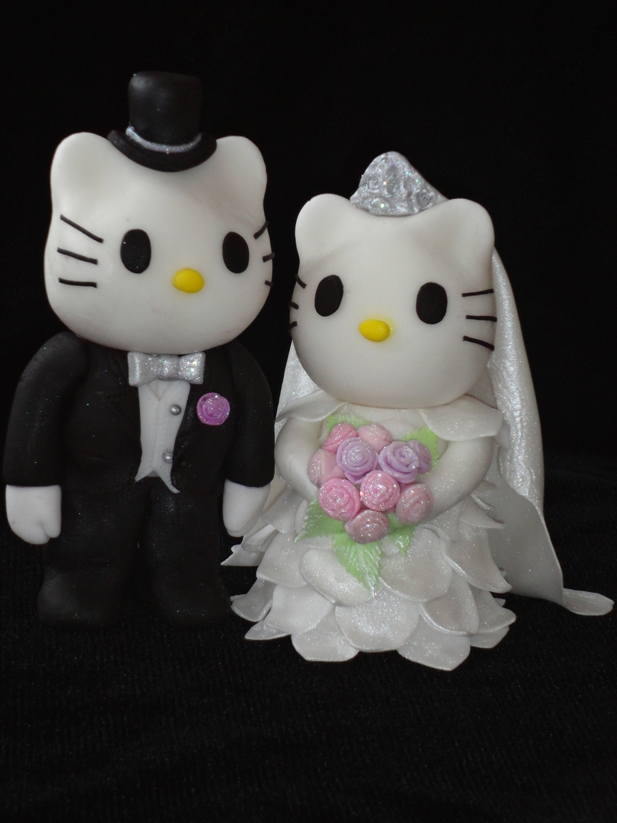 hello kitty wedding cakes hello kitty wedding cake topper cakecentral 15198