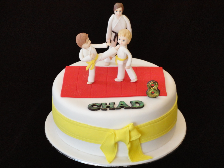 Boy's Karate Cake on Cake Central