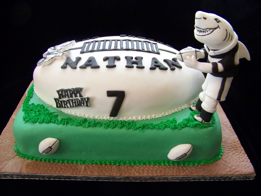 Sharks Rugby Birthday Cakes