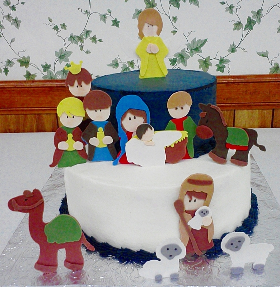 Nativity Cake 2012 2  on Cake Central