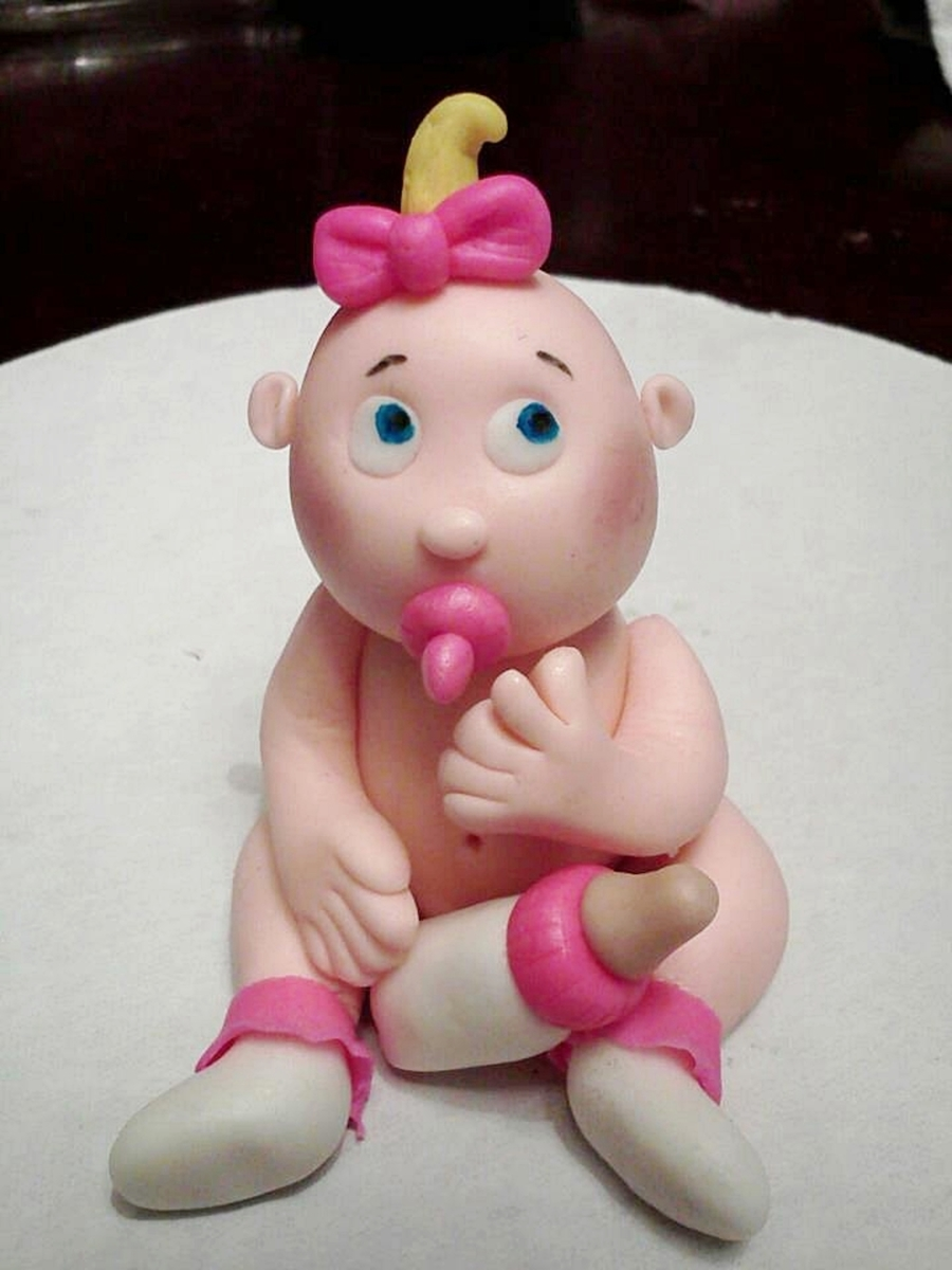 Sweet Fondant Baby  on Cake Central