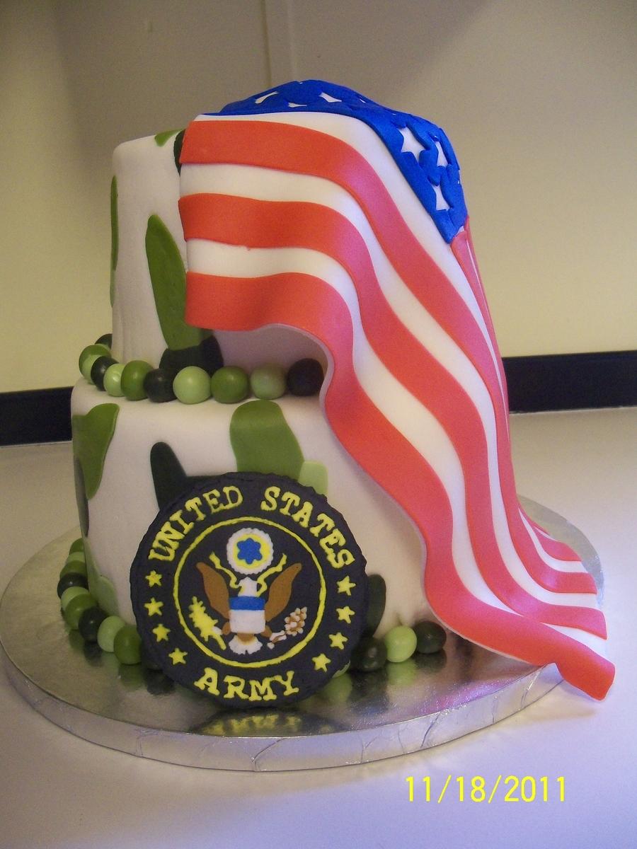 American flag camo cake for American flag cake decoration