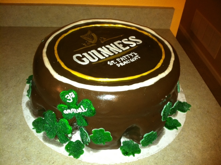 St. Patty's Bottle Cap on Cake Central
