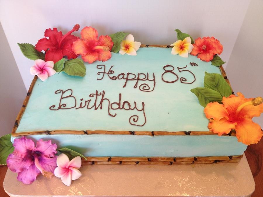 Amazing Hawaiian Birthday Cake Cakecentral Com Funny Birthday Cards Online Fluifree Goldxyz
