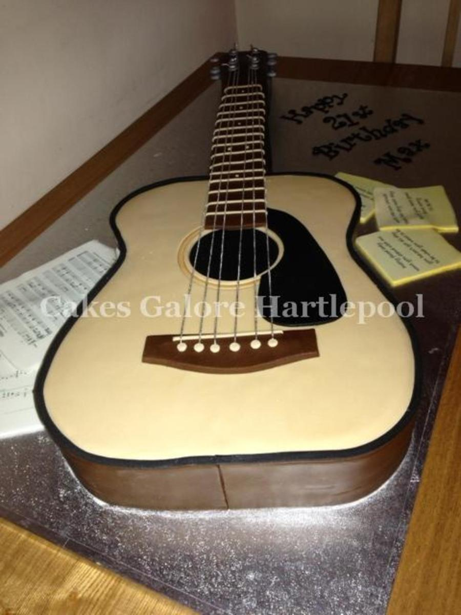 Acoustic Guitar Birthday Cake Recipe