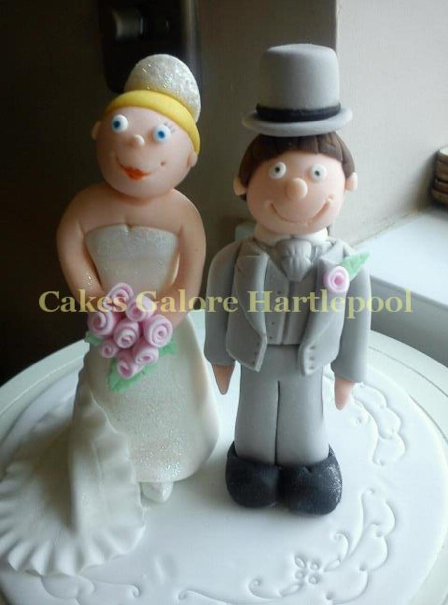 My First Bride And Groom :) on Cake Central
