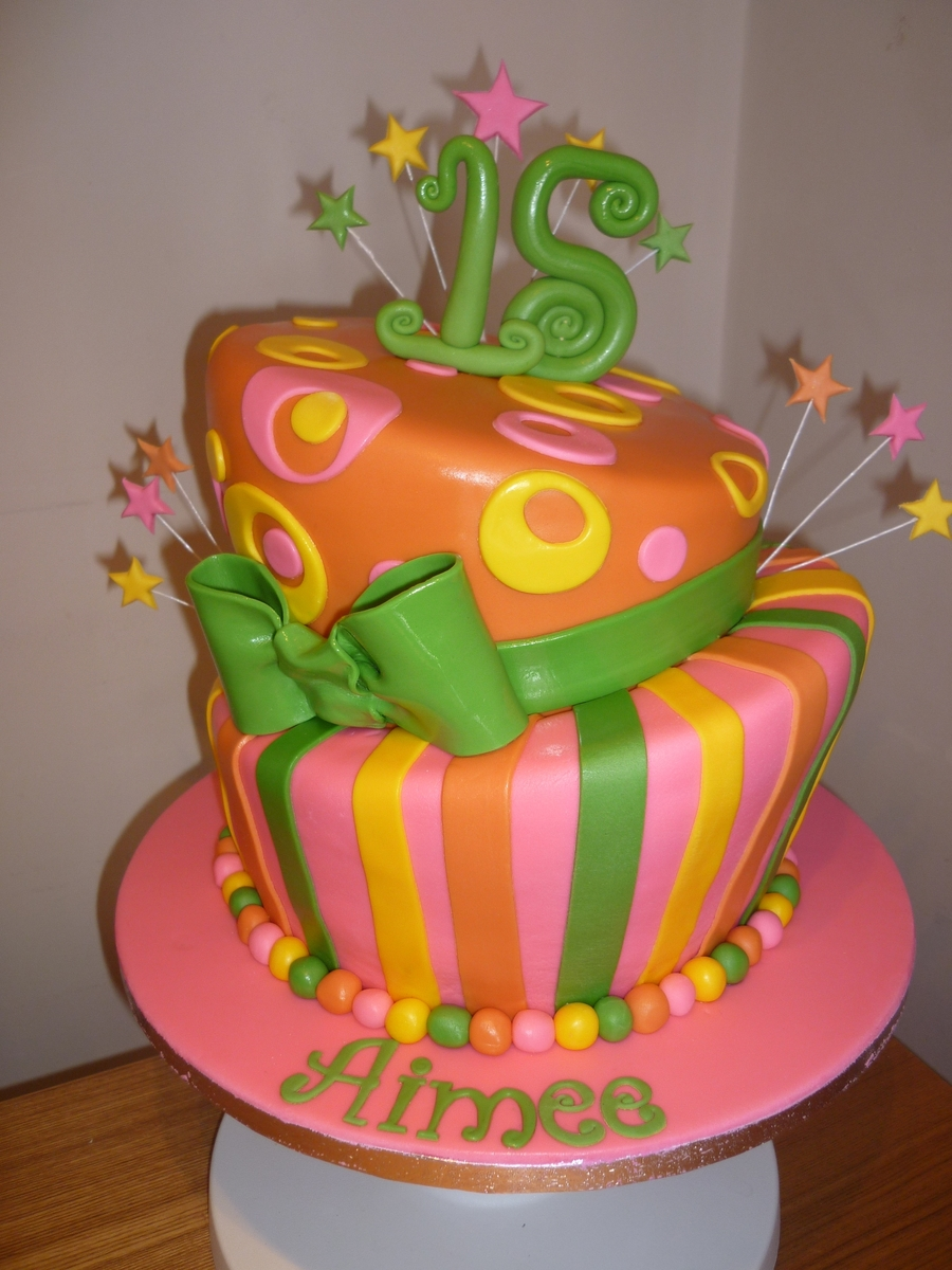 A Funky Cake on Cake Central
