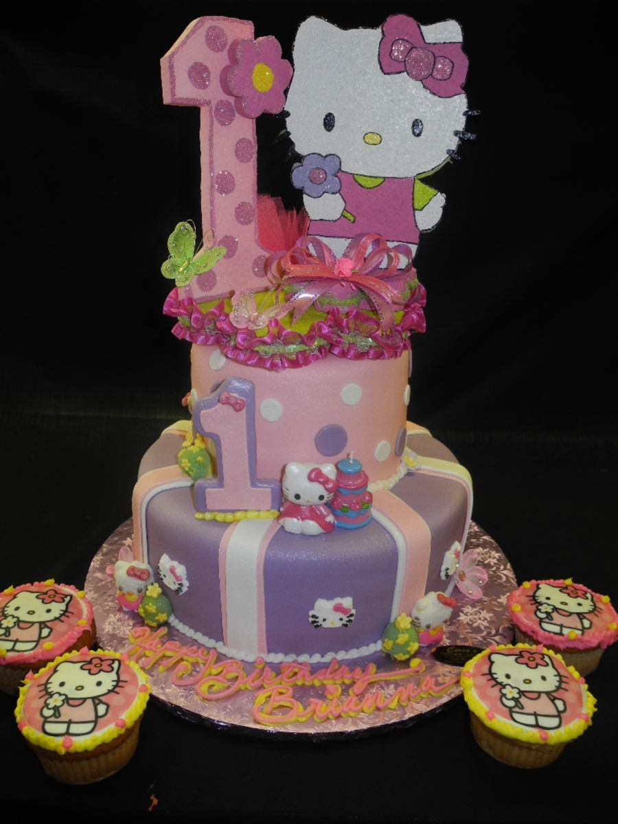Hello Kitty 1st Birthday Cake Cakecentral