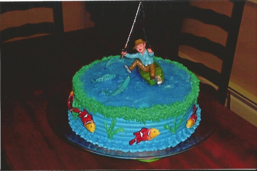 Fishing Birthday Cake CakeCentralcom