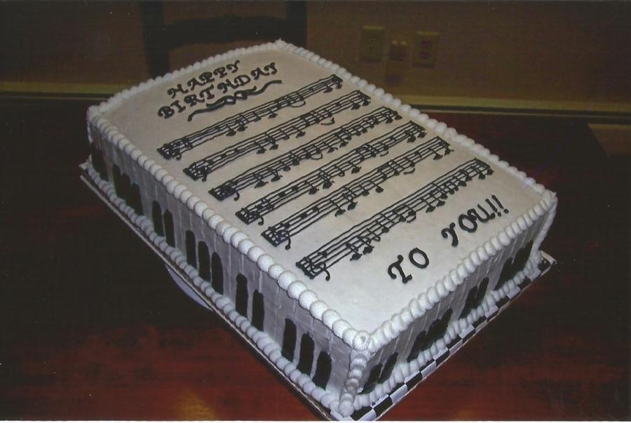 Happy Birthday Trumpet Cake