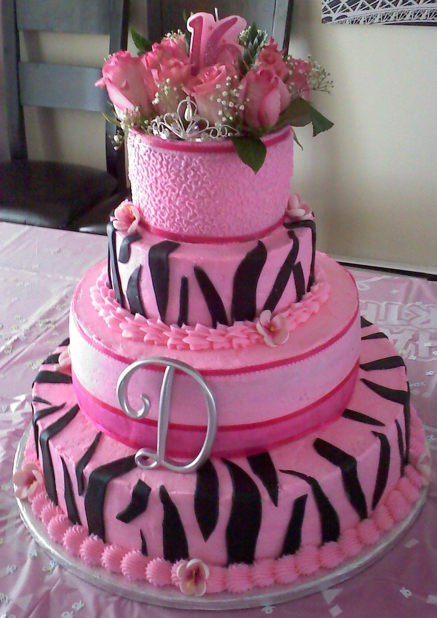 Daughters Sweet Sixteen Cake - CakeCentral.com