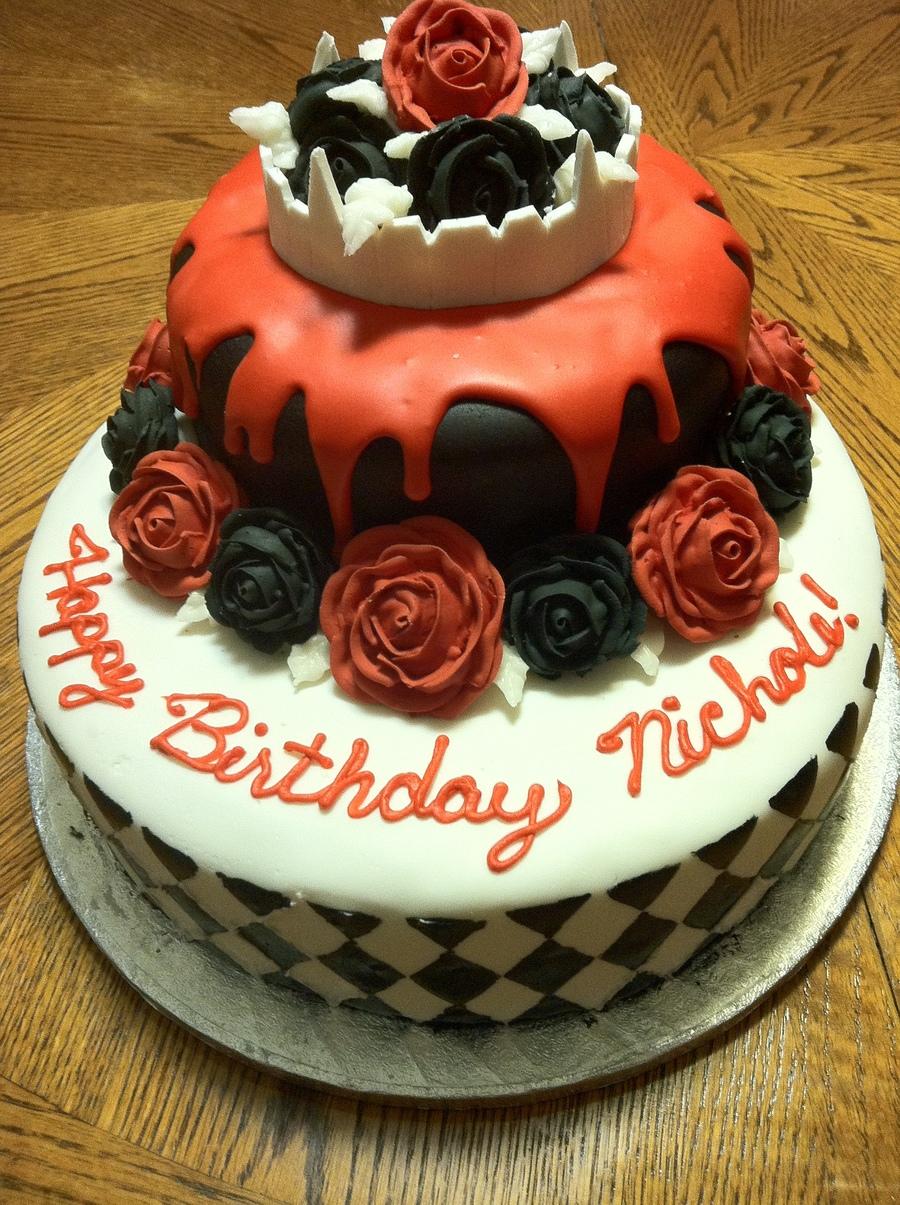 Strange Vampire Birthday Cake Cakecentral Com Funny Birthday Cards Online Overcheapnameinfo