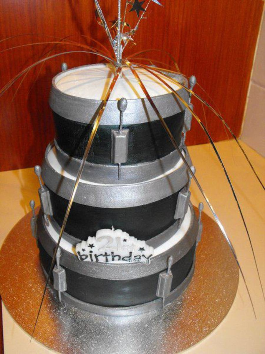 Stupendous Drum Set 21St Birthday Cake Cakecentral Com Funny Birthday Cards Online Bapapcheapnameinfo