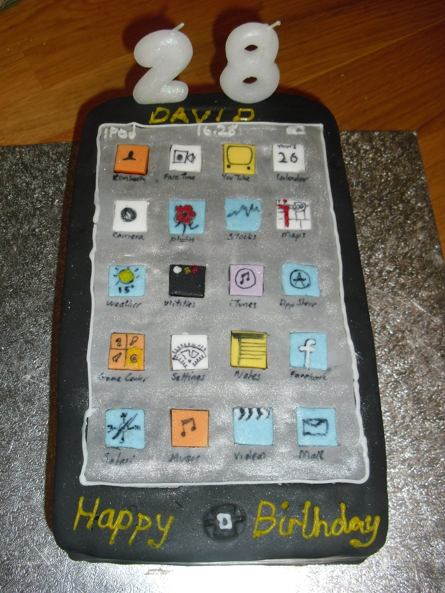 Itouch Birthday Cake  on Cake Central