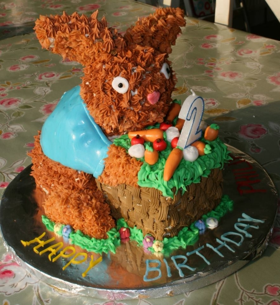 Peter Rabbit Birthday Cake  on Cake Central