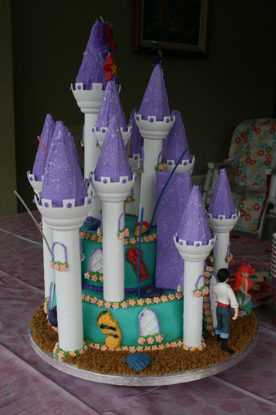 Little Mermaid Birthday Cake CakeCentralcom