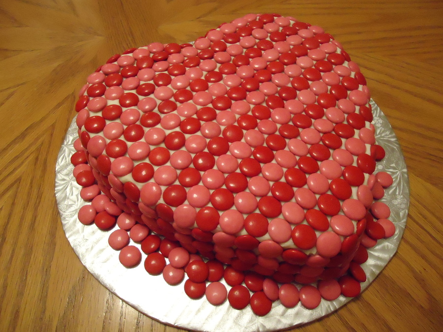 Smartie Heart Cake on Cake Central
