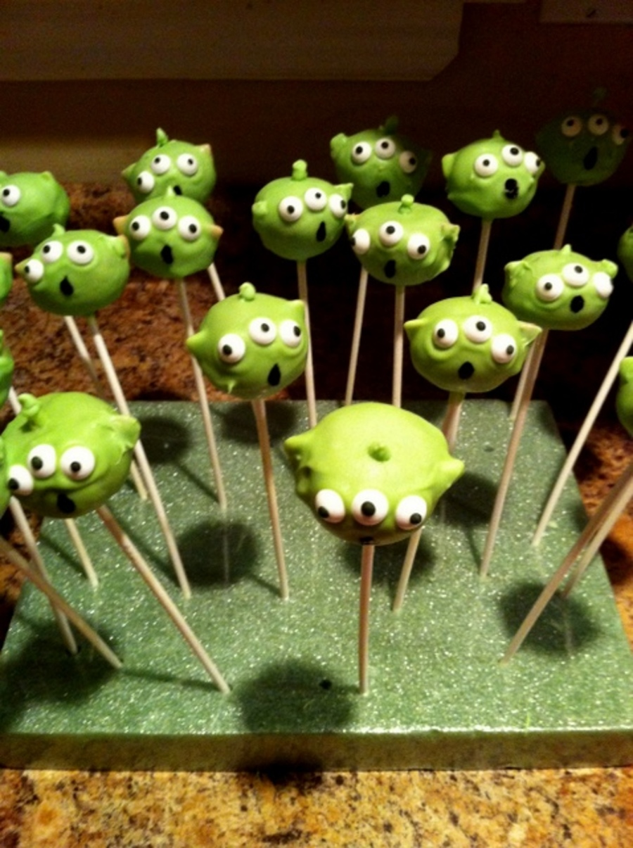 Toy Story Alien Cake Pops