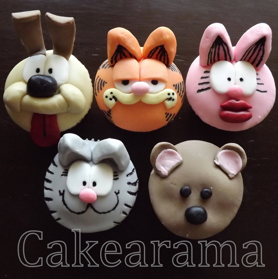 Garfield And Friends Cupcakes on Cake Central