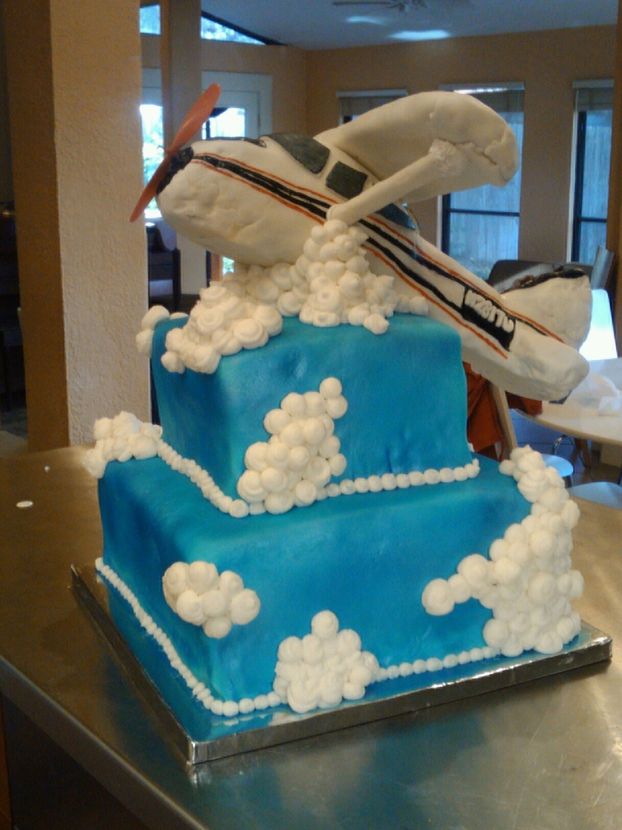 aircraft wedding cake cessna taking cakecentral 10633