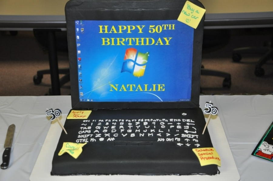 Laptop Cake on Cake Central