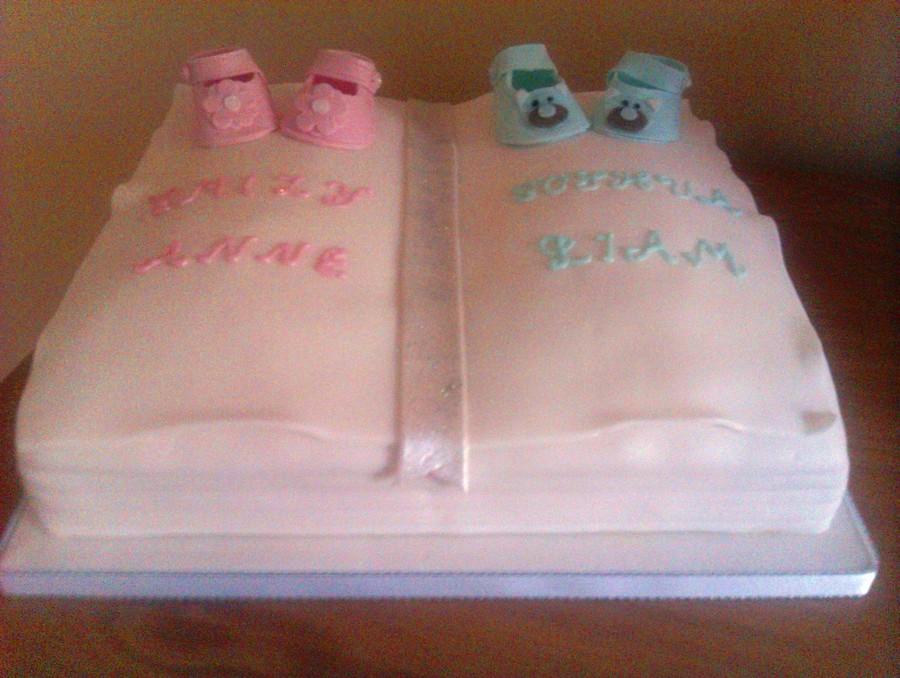 Twins Christening Cake , CakeCentral.com
