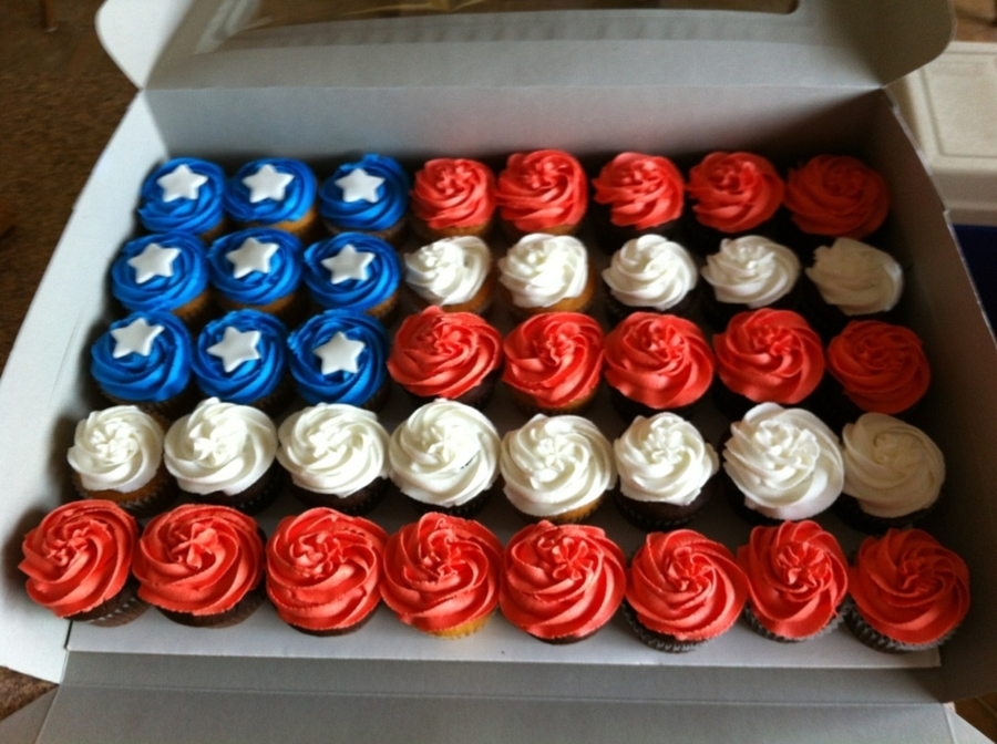 Flag Cupcakes  on Cake Central