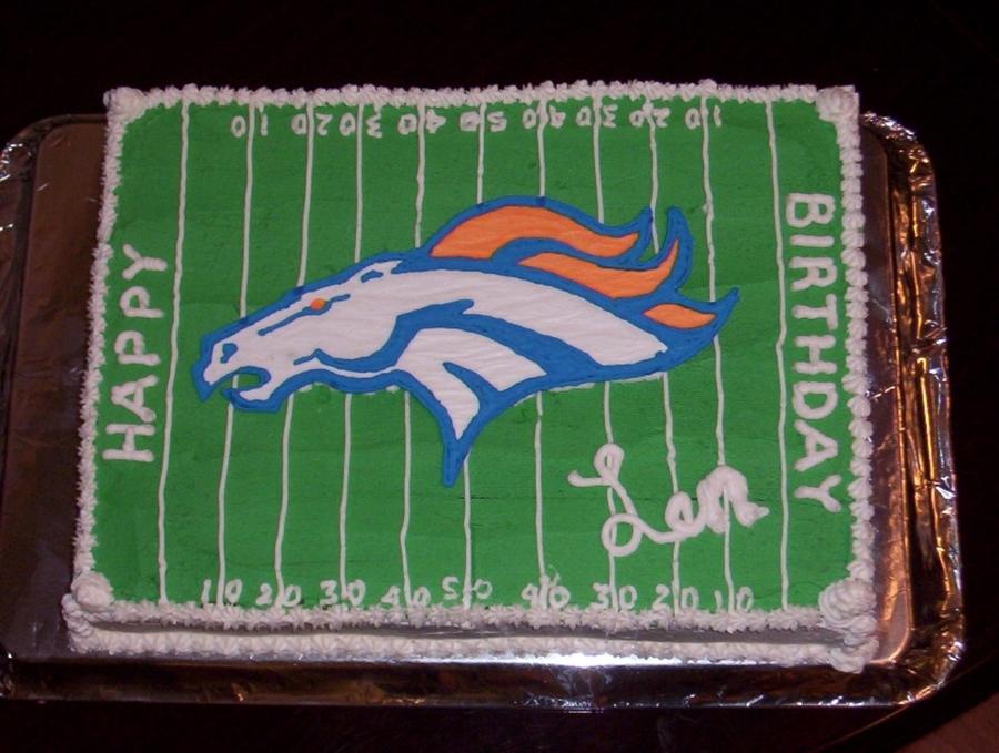 Amazing Denver Broncos Birthday Cake Cakecentral Com Birthday Cards Printable Trancafe Filternl