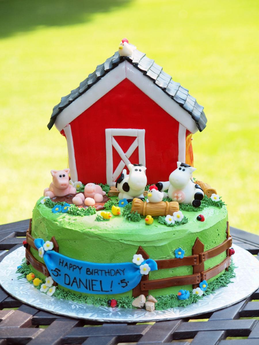 Astounding A Farm Tastic Birthday Cakecentral Com Funny Birthday Cards Online Inifodamsfinfo