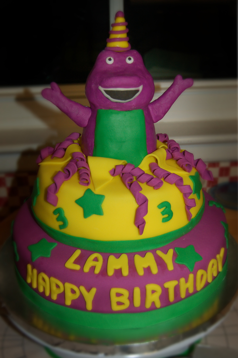 Barney Birthday Cake on Cake Central