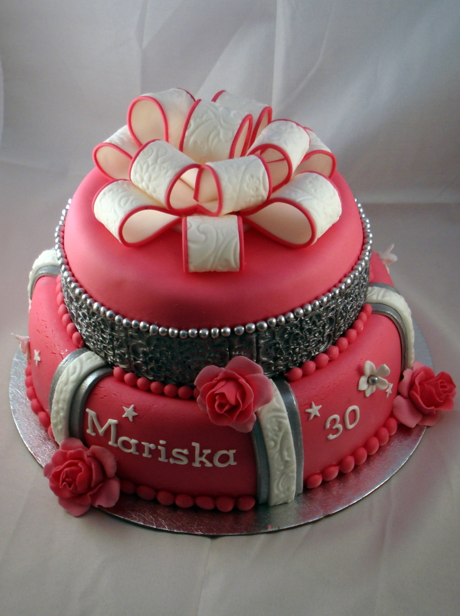 Birthday Cake For 30 Year Old Women - CakeCentral.com
