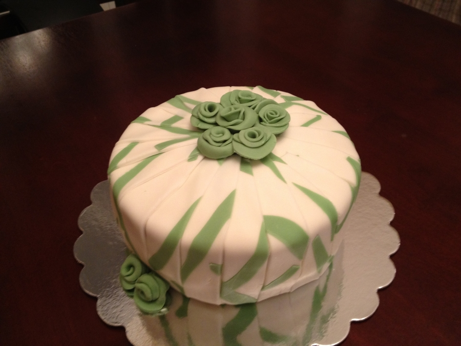 Sage And Ivory Cake on Cake Central