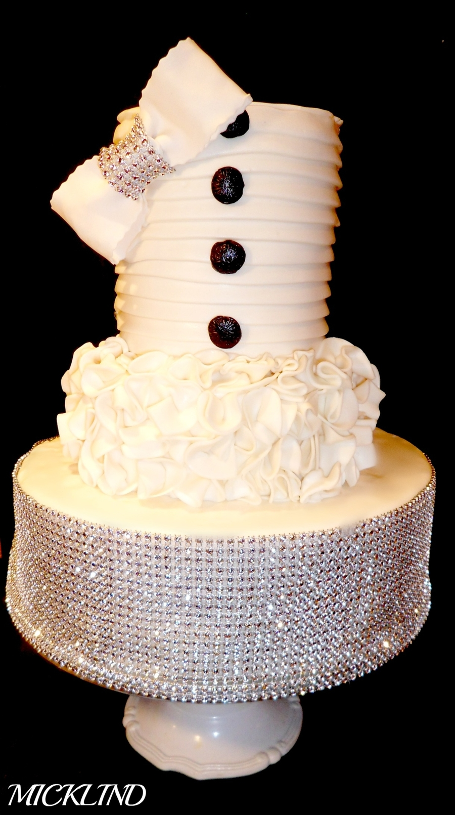 A Bling Wedding Cake  on Cake Central