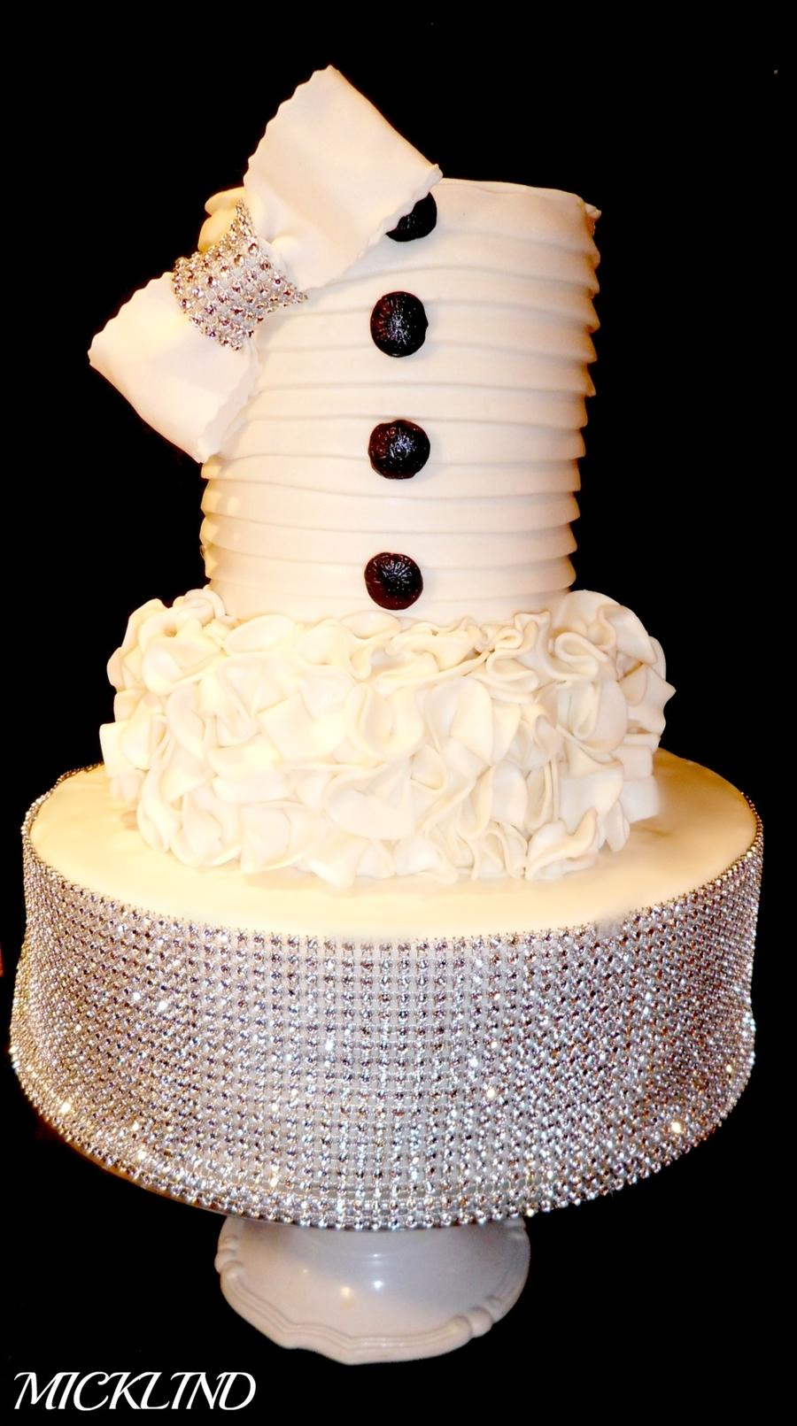 A Bling Wedding Cake - CakeCentral.com