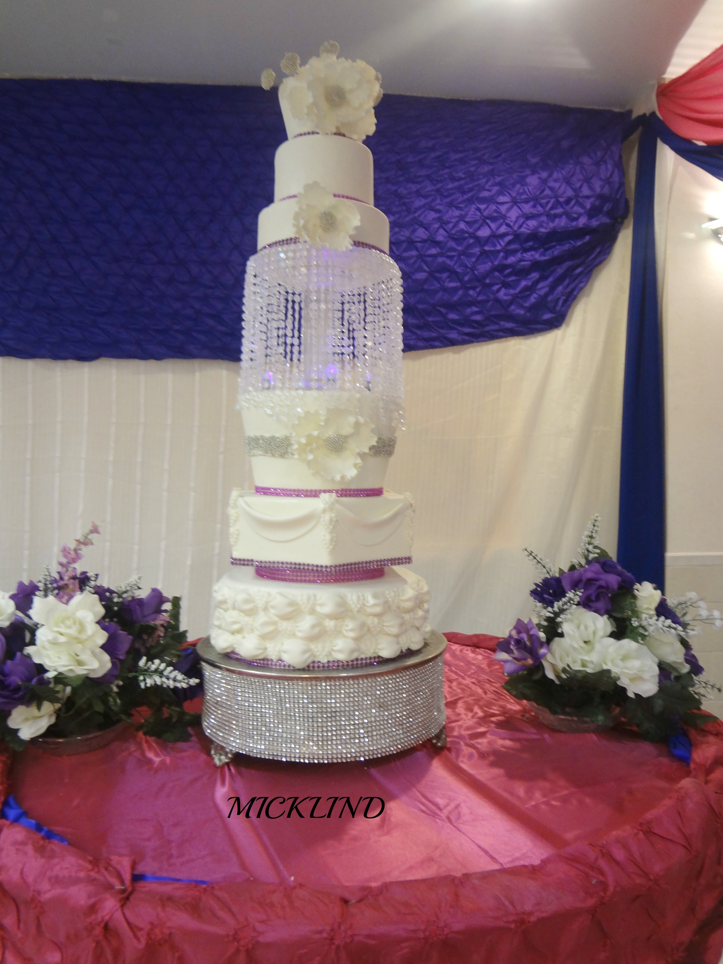 A 6 Tier Crystal Wedding Cake - CakeCentral.com
