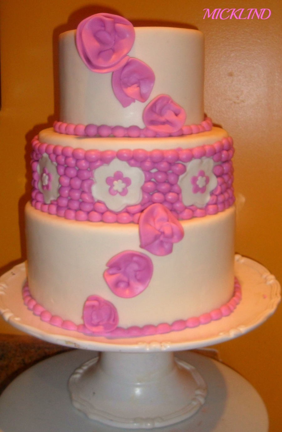 A Three Tier Wedding Cake - CakeCentral.com