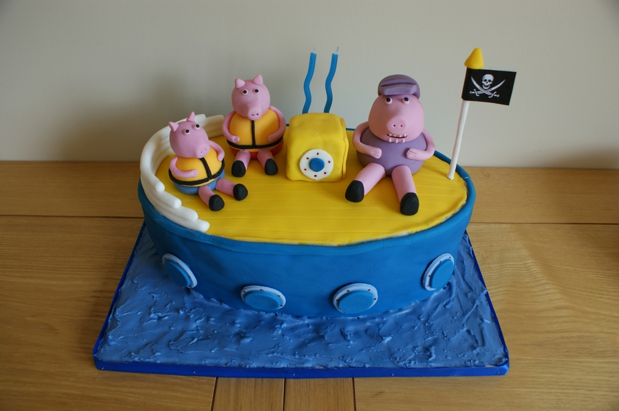 Peppa Pig - Grandpa Pig's Boat on Cake Central