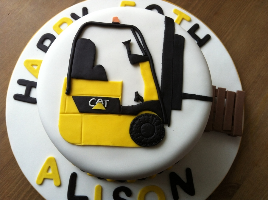 Forklift Cake on Cake Central