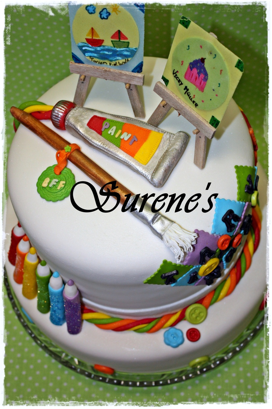Cake Ideas For Artist : Arts & Crafts Cake - CakeCentral.com