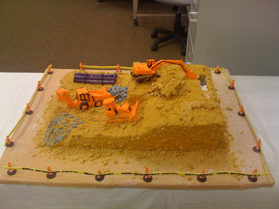 Construction Retirement Cake on Cake Central