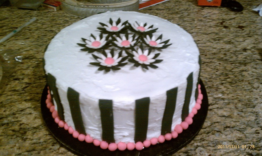 Black, White And Pink Cake on Cake Central