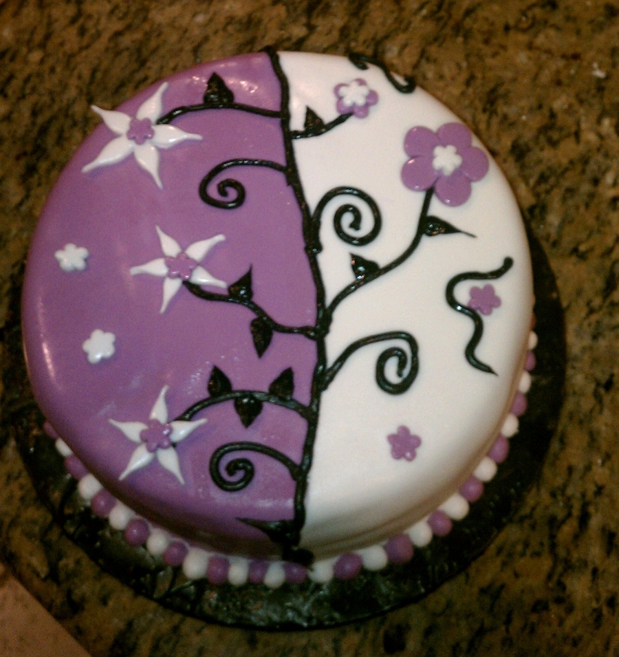 Purple And White on Cake Central