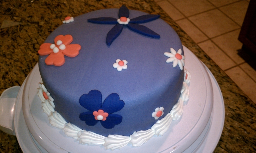 Purple And Flower on Cake Central