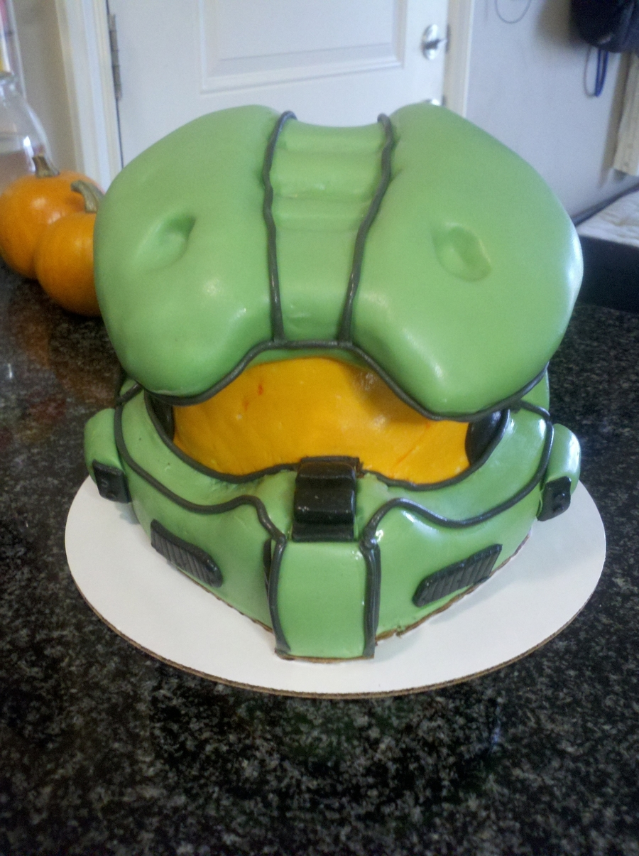 Halo Chiefs Helmet on Cake Central