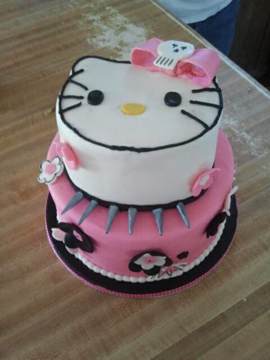 Punk Hello Kitty Cake - CakeCentral.com