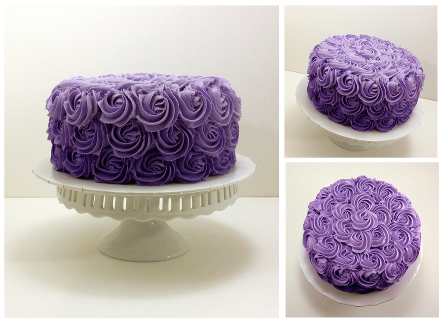 Purple Ombre Rosette on Cake Central