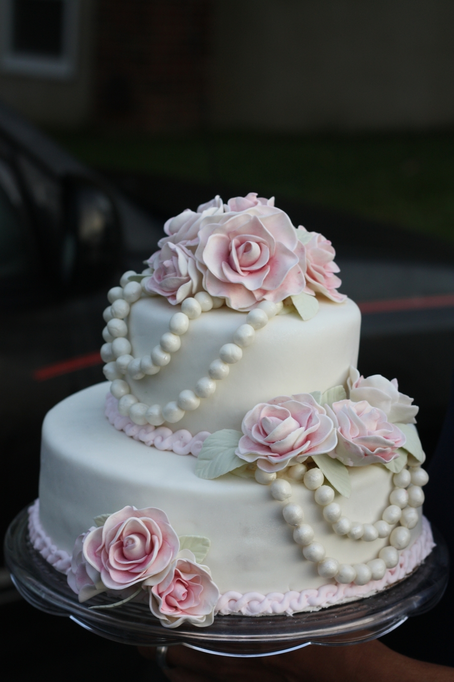 Roses And Pearls on Cake Central